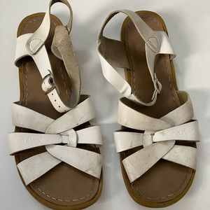 White preloved Saltwater Sandal by Hoy